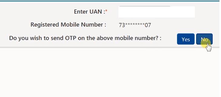 uan mobile number change