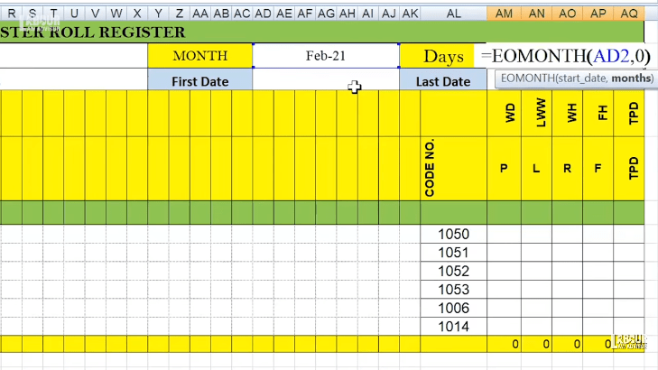 automated attendance sheet excel